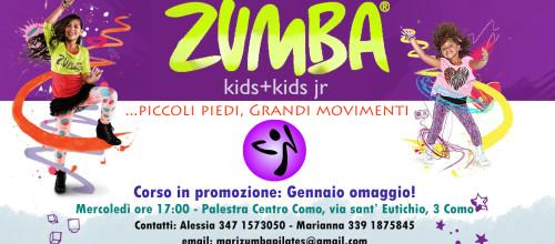 Nuovo corso: Zumba Kids+Kids jr a Gennaio in Omaggio!
