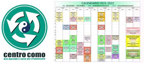 CALENDARIO CORSI 2021-2022